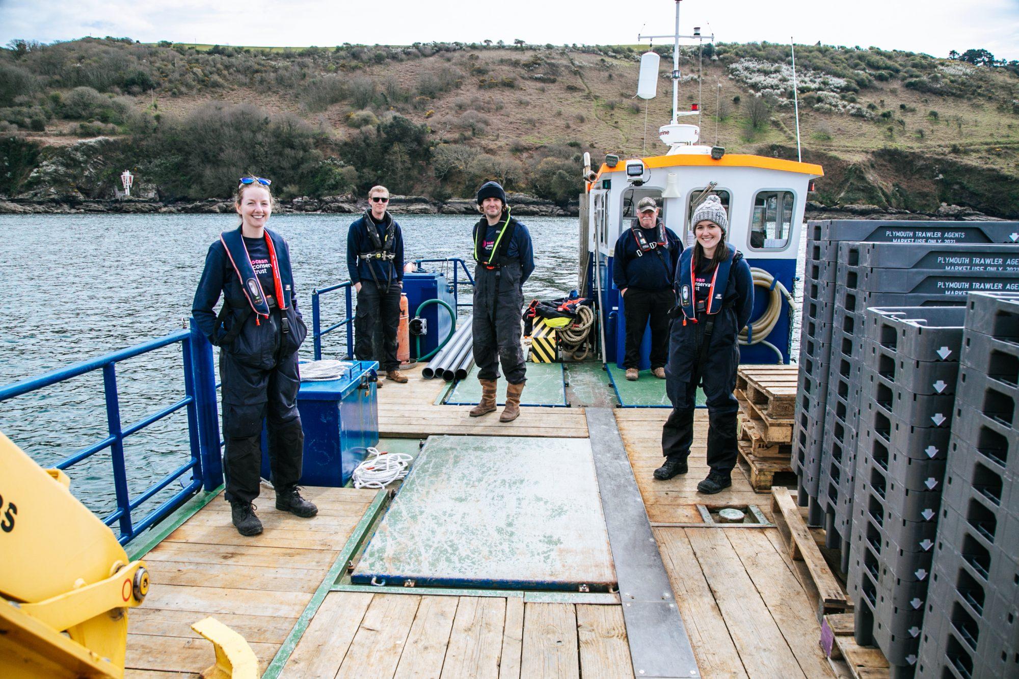 Restoration team - credit Ocean Conservation Trust