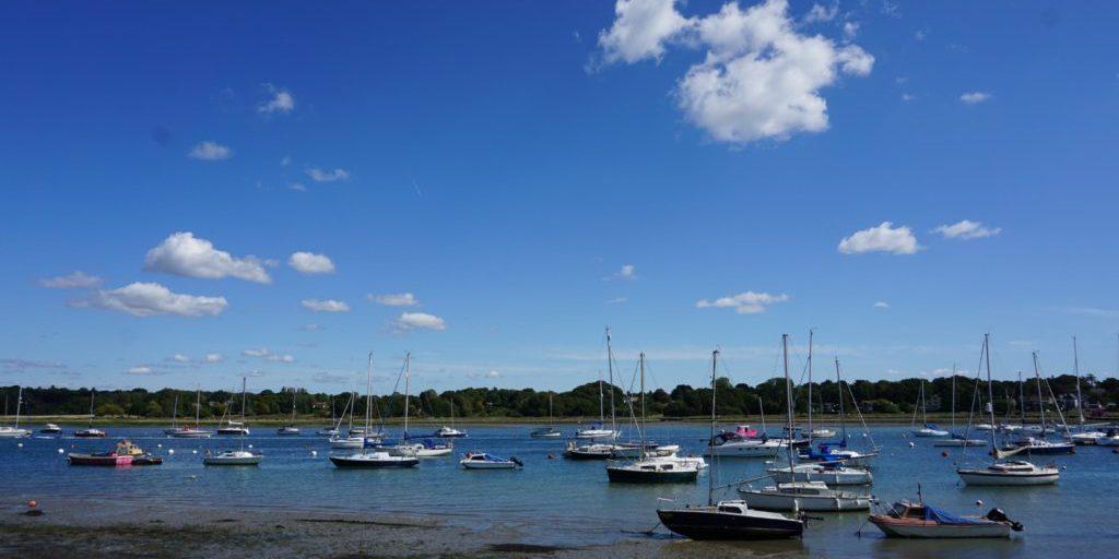 Moored Boats at Hamble. Photo credit Kate Fortnam